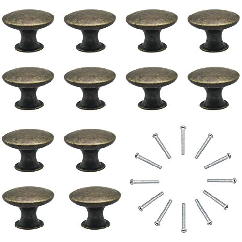 Kommodenknöpfe Schubladenknöpfe Set 12 Stück Moebelknauf Schubladengriffe Vintage Messing Antik φ30mm Knauf für Schrank Schublade Küche