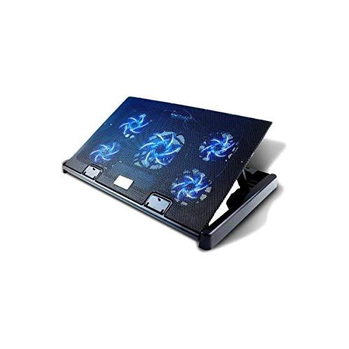 """TDCQQ Laptop Cooling Pad, 12""""-17"""" Laptop Cooler Cooling Pad - Schlanker tragbarer Laptop-Kühler mit USB-Stromversorgung (5 Lüfter)"""