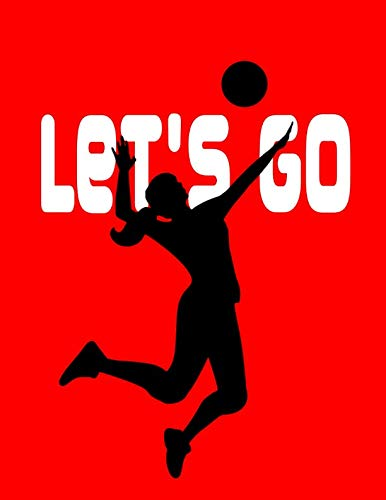 Let's Go. Notebook for Volleyball Fans. Blank Lined Journal Planner Diary. por BBD Gift Designs
