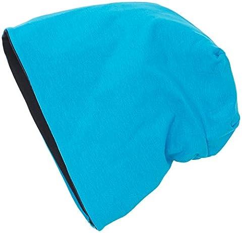 MSTRDS Unisex Erwachsene Jersey Beanie reversible Strickmützen,,per pack Mehrfarbig (turquoise/navy 10377,3901),One Size (one size)