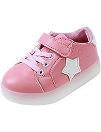 Bebé LED estrella zapatillas con luces ,Yannerr niño niña Chica Chico luminoso pequeño colorido ligeros zapatos