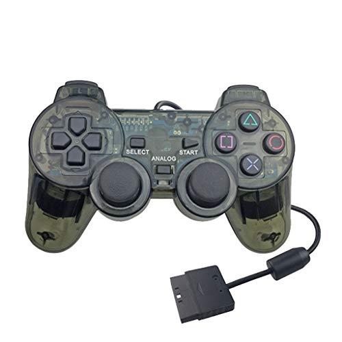 Altsommer Transparenter PS2 Controller Ersatz Joystick für Sony Playstation 2 - Classic Retro Nostalgische Mini Karte Hand Spiel Konsole Kinder Spielzeug Jungen Geschenke (Blau)