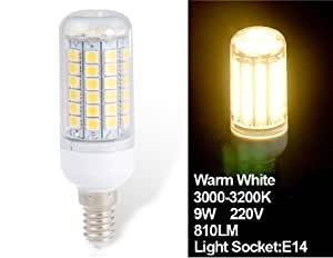 HUIMIN 9W E14 69 x 5050 Epistar Warm White LED Corn Bulb