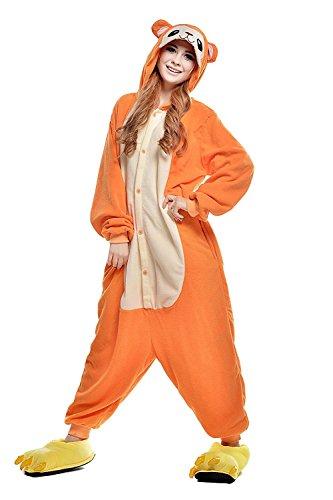 suit Onesie Tier Fasching Karneval Halloween kostüm Erwachsene Unisex Cosplay Schlafanzug- Größe M - für Höhe 156-163CM, Gelb Affe (Erwachsene M&m Kostüme)