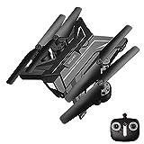 E-KIA Mini Drohne Mit Kamera Luftaufnahmen,Live-Video Und GPS-Empfang Mit Einstellbarer Weitwinkel-1080p HD WiFi-Kamera,Black-Silver,No-Camera