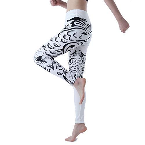 AIni Damen Yoga Hosen Mode 2019 Neuer Beiläufiges Schnelltrocknende, Enge Stretch Fitness Yogahose mit Hohem Hosenbund Yoga Leggings Sport Fitness Hosen Trainingshose (XS,Weiß)