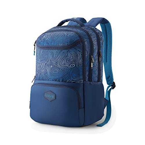 Best american tourister backpack in India 2020 American Tourister Turf 32 Ltrs Blue Casual Backpack (FF0 (0) 01 001) Image 2