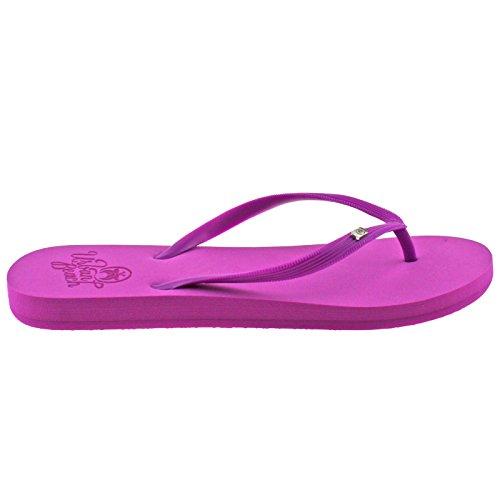 Urban Beach Wight Femmes Rose / Bleu / Lime Tongs Sandales Sandales Taille 3 - 8 Rose / Violet