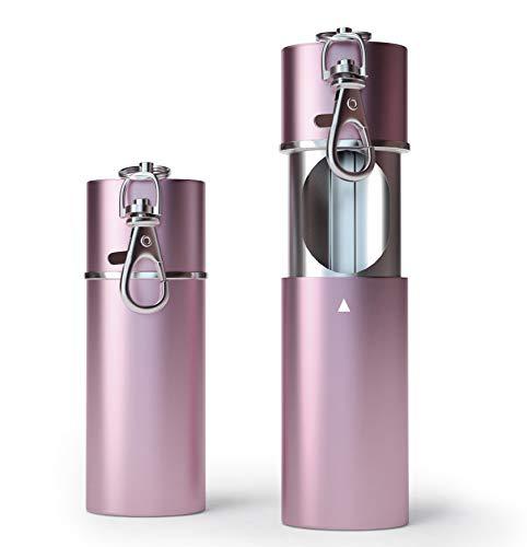 1 x Zigaretten Taschenascher Taschenaschenbecher geruchsdicht | Reise-Aschenbecher - Aschenbecher für unterwegs - Aschenbecher to go (Rosé Gold)
