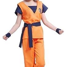 FineBlue FB-Goku estilo peluca cosplay ropa de artes marciales con el tama?o