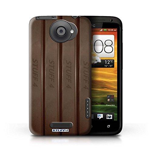 Kobalt® Imprimé Etui / Coque pour HTC One X / Galaxy Vague conception / Série Chocolat Doigts/Sticks