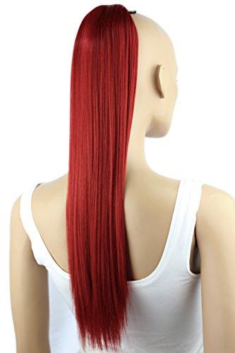 Prettyshop parrucchino, coda di cavallo, le estensioni dei capelli, resistente al calore e liscio 50 cm rosso # 3100 h99