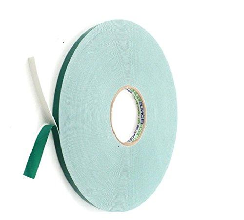 BONUS Eurotech 2BF42.10.0015/010A# Doppelseitiges Schaumstoffklebeband, Acrylklebstoff, Geschlossenzelliger Polyethylen, Länge 10 m x Breite 15 mm x Gesamtdicke 0,8 mm, Weiß -