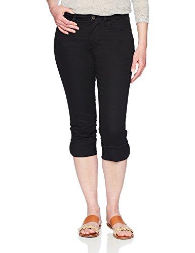 Cuff Capri (Riders by Lee Indigo Damen Rolled Cuff Midrise Denim Capri Jeans, schwarz, 46 Durchschnittlich)