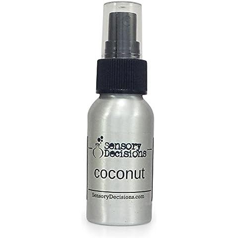 Coco fragancia habitación Spray, por sensorial decisiones, metal, Plateado, 1 bottle