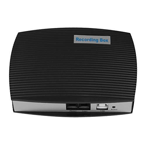 Garsent Box-Recorder, 1-Kanal-Telefonaufzeichnungsbox Festnetzmonitor Diktiergeräte Telefonaufzeichnungssystem kompatibel mit Windoren 7 / XP/Vista / 2000/2003. Telefon Telefon-recorder