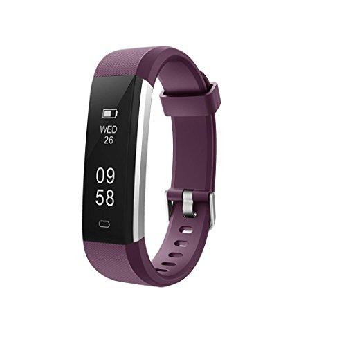 LCLrute Mode ID115U Bluetooth Smart Watch Armband Armband Schrittzähler Sport Fitness Tracker (Wein)