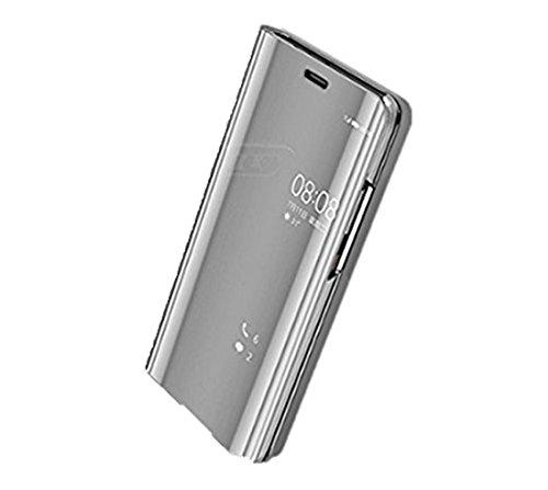 Pacyer Custodia Huawei P10/P10 Plus/P10 Lite Cover Case Custodia Specchio Copertura Caso PC Shell Fondina Ultra Sottile Anti-Scratch Book Style Bumper (Argento, Huawei P10 Plus)