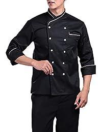 ShiyiUP Chaqueta de Chef Unisex Uniforme de Cocina