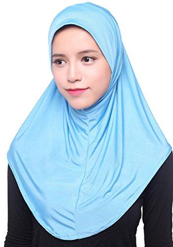 Auspicious beginning Muslimische Elegante Ice Silk Abdeckung Wrap Islamischer Schal Hijab für Frauen