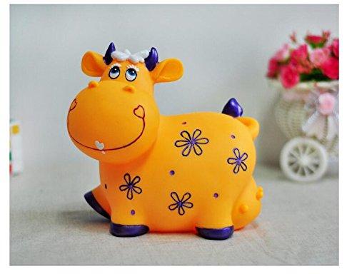 Banco de Dinero de Viaje Piggy Box Lovely Cow Piggy Bank Anti-Falling Large Capacity Money Bank (Vaca Amarilla)
