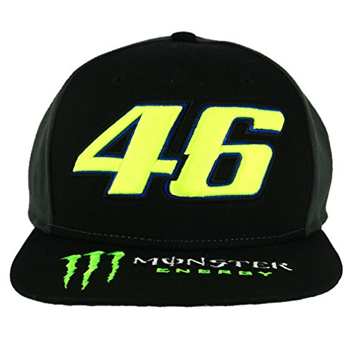 Valentino Rossi VR46 Moto GP Monster Energy Dual Flat Peak Deckel Offiziell 2018