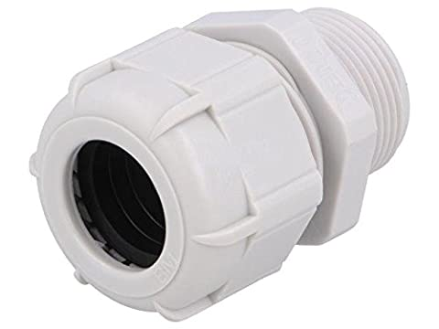 BM4925L Cable gland with long thread M25 IP68 Mat polyamide grey BM GROUP