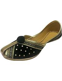 Step n Style Flat Punjabi jutti Flat Shoes Zapatos de boda zapatos de Khussa mojari jooti, color Azul, talla 40