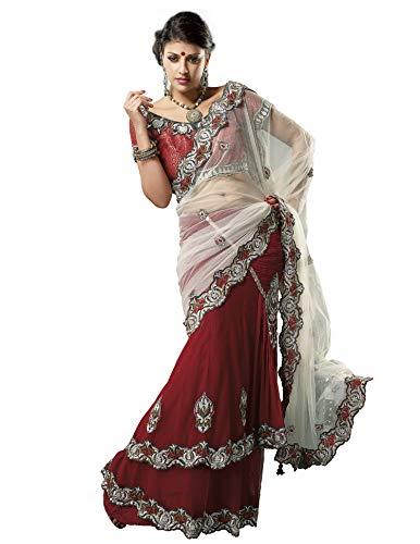 Mahotsav Women\'s Net Saree (2403_ Red)