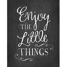 Impresión de Arte Fino en lienzo : Enjoy the Little Things by Cummings, Amy - Grande (56 x 71 Cms)