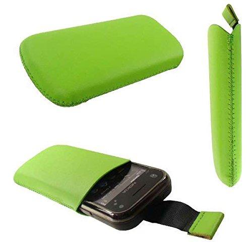 caseroxx Slide-Etui Handy-Tasche für Nokia N97 Mini aus Kunstleder, Handy-Hülle in grün Mini N97 Handy