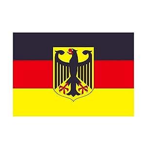 Taffstyle® Fanartikel Fussball Weltmeisterschaft WM & EM Europameisterschaft 2016 Länder Flagge Fahne 150cm x 90 cm mit Metallösen – Deutschland mit Adler