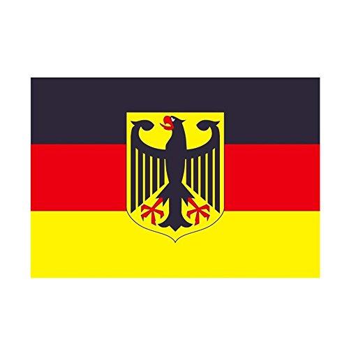 Taffstyle® Fanartikel Fussball Weltmeisterschaft WM & EM Europameisterschaft 2016 Länder Flagge Fahne 150cm x 90 cm mit Metallösen - Deutschland mit Adler