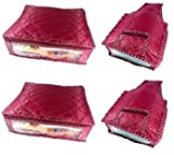 Addyz 2 Saree Covers & 2 Blouse Covers -...
