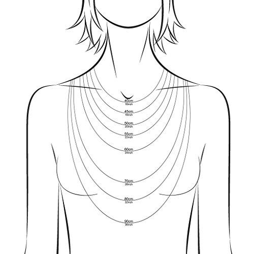 Amberta 925 Sterlingsilber Damen-Halskette – Diamantierte Kugelkette – 1.2 mm Breite – Verschiedene Längen: 40 45 50 55 60 70 80 90 cm - 4