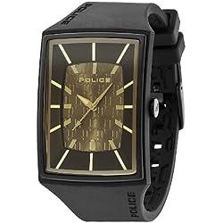 POLICE Herren-Armbanduhr VANTAGE X Analog Quarz Silikon P13077MPBB-13