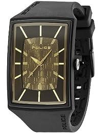 POLICE P13077MPBB-13 - Reloj analógico de cuarzo para hombre con correa de silicona, color negro