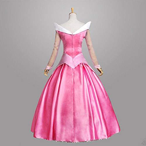 HYMZP Kostüm Damen, Halloween Erwachsene Frau Cosplay Liebe Luo Prinzessin Kleid Leistungskostüm, Karneval Sexy Dornröschen Leistung Anime Kostüm,Rosa,L (Sexy Rosa Prinzessin Kostüm)