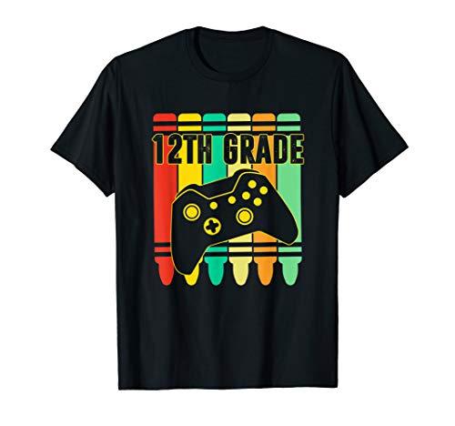 12th Grade T-shirt Twelfth Grade Crayons Student Teacher T-Shirt