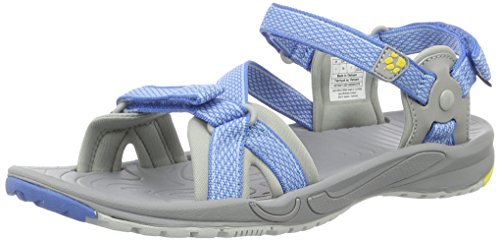 Jack Wolfskin Damen Lakewood Ride Sandal W Outdoor, Blau (Wave Blue), 38 EU