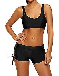 Labelar Damen Sport Bikini Set Push Up Badeanzug mit Panty Sexy Sportlich Bademode