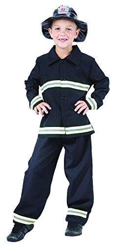 Imagen de reír y confeti  fiapol021  disfraces para niños  traje negro chico bombero  boy  talla s