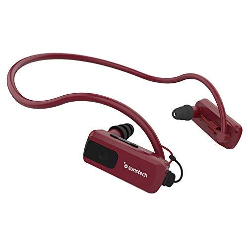 Oferta de Sunstech TRITON4GBRED - Reproductor de MP3 de 4 GB (resistente al agua, con almohadillas) rojo