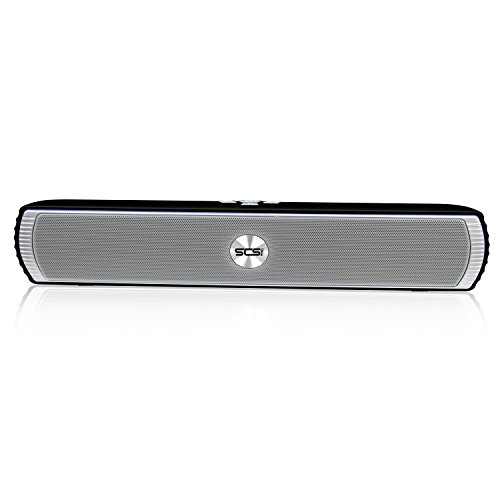 SCS-ETC-Wireless-Bluetooth-Soundbar-Speaker-2-x3w-Dual-Drivers-with-Crystal-Clear-and-Huge-Stereo-Sound-for-TV-PC-Laptop-Mobile-iPhone-iPad-Samsung-etc-Black