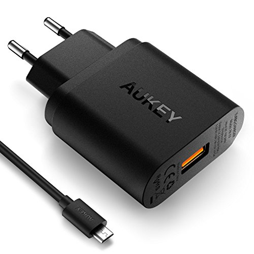 AUKEY Quick Charge 3.0 Cargador de Red 18W [Qualcomm Certificado] Cargador...