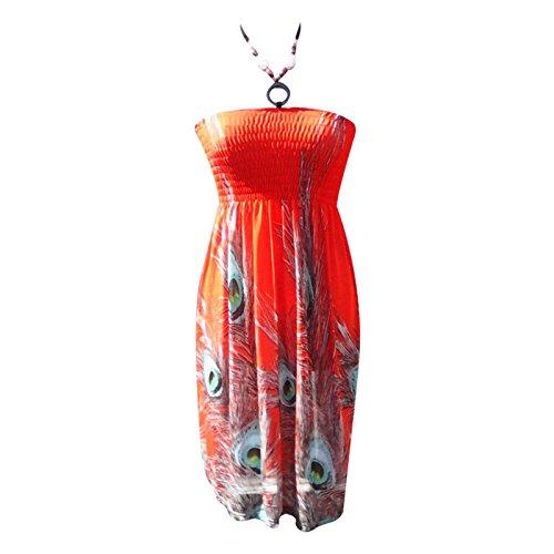 Generic -  Vestito  - Senza maniche  - Donna Orange