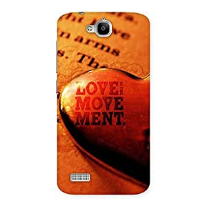 Special Love Movement Back Case Cover for Honor Holly