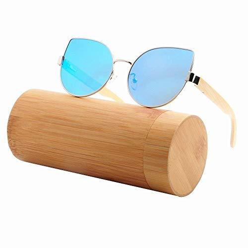 Polarisierte Sonnenbrille für Männer und Frauen, Persönliche Brille zum Fahren, Radfahren, Angeln, Golf und alle Sportarten, Blendfreie PC-Schutzgläser (Farbe: Orange),Eisblau