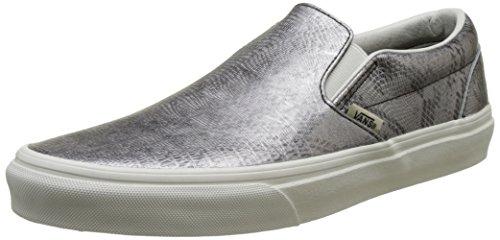 Vans Classic Slip-On, Unisex-Erwachsene Sneaker, Mehrfarbig ((Disco Python) Black/Blanc De Blanc), 36.5 EU (Herren Python-leder)