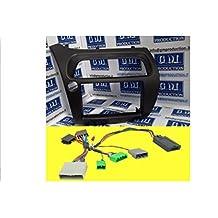 G.M. Production - 6068KIT+776 - Mascherina radio monitor Doppio 2 Din HONDA con kit comandi volante per prodotti giapponesi come PIONEER, SONY, ALPINE, JVC, KENWOOD (recupera display e clima di serie) e cavo antenna [controllare foto e dettagli compatibilità]